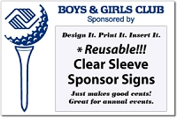 Boys and Girls Club Golf Sponsor Signs