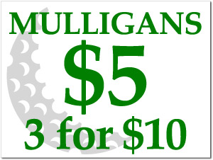 18 x 24 custom mulligan sign includes stake. Black Bedroom Furniture Sets. Home Design Ideas