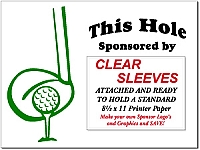 "18  18"" x 24"" Golf Sponsor Signs with Clear Plastic Sleeves and Stakes and Free Shipping!"
