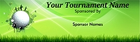 Golf Sponsor Banner Personalized with your sponsor names and event message