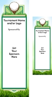 Golf Sponsor Banner Personalized with your sponsor names and event message.
