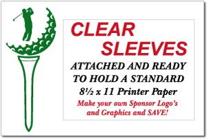 Golf Sponsor Signs with Clear Plastic Sleeves