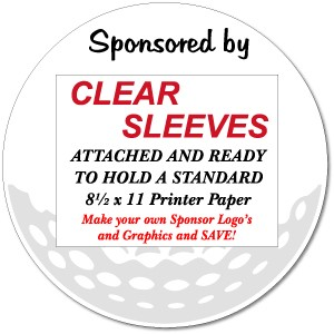 18 round golf sponsor signs  with sleeves and display stakes